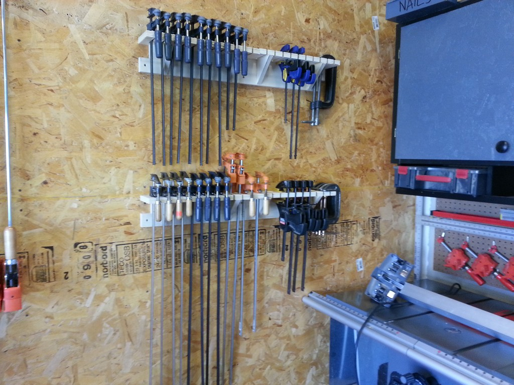 Clamp Rack - Part 2: F Style Bar Clamps