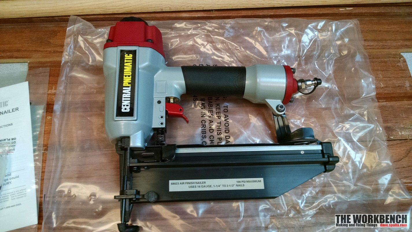 Central Pneumatic 16 Gauge Air Finish Nailer Review The