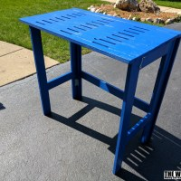 Fold-up Potting Bench From Reclaimed Wood