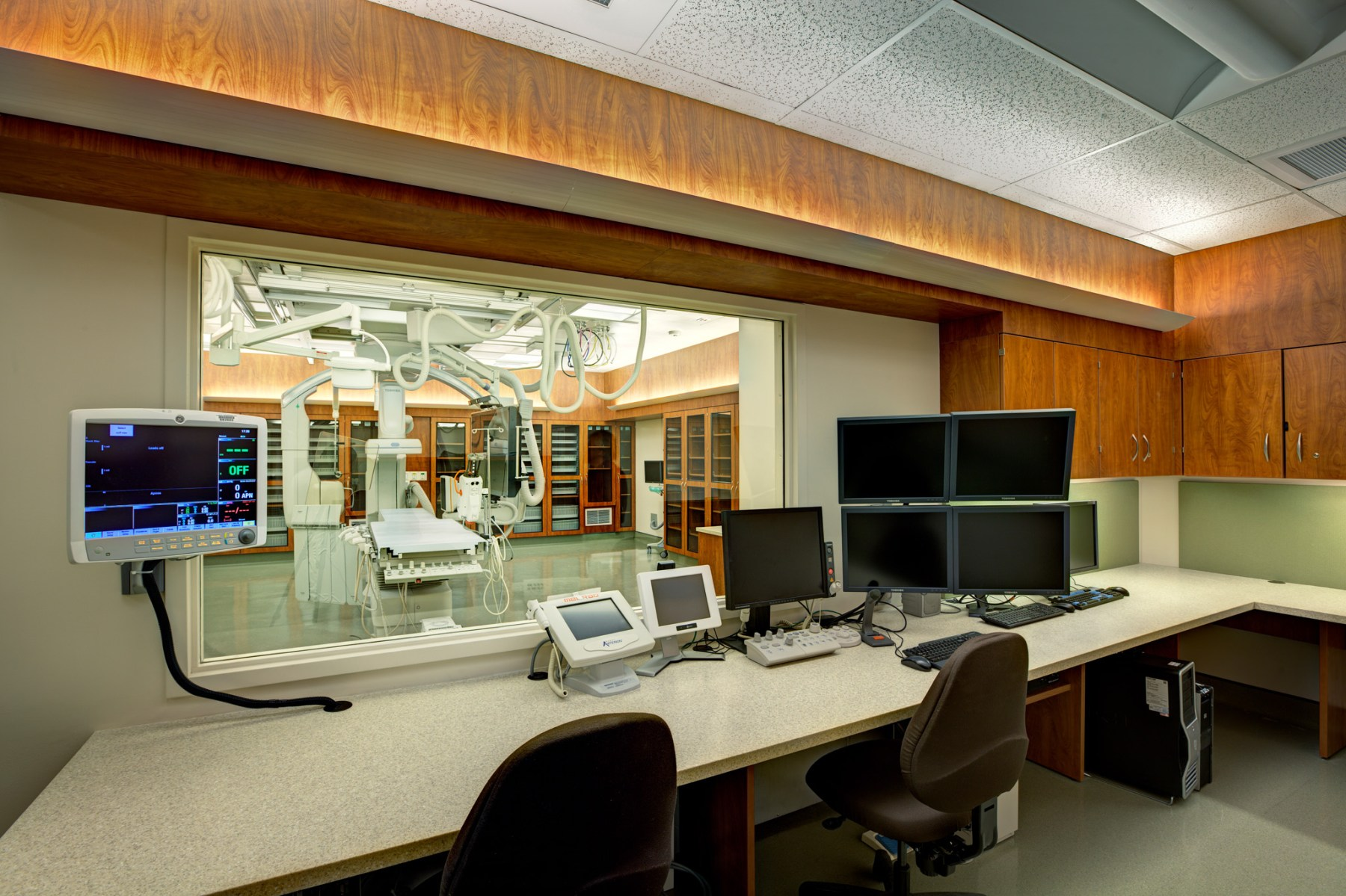 Photo of Bi-Plane Imaging Control Room