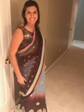 cat in sari