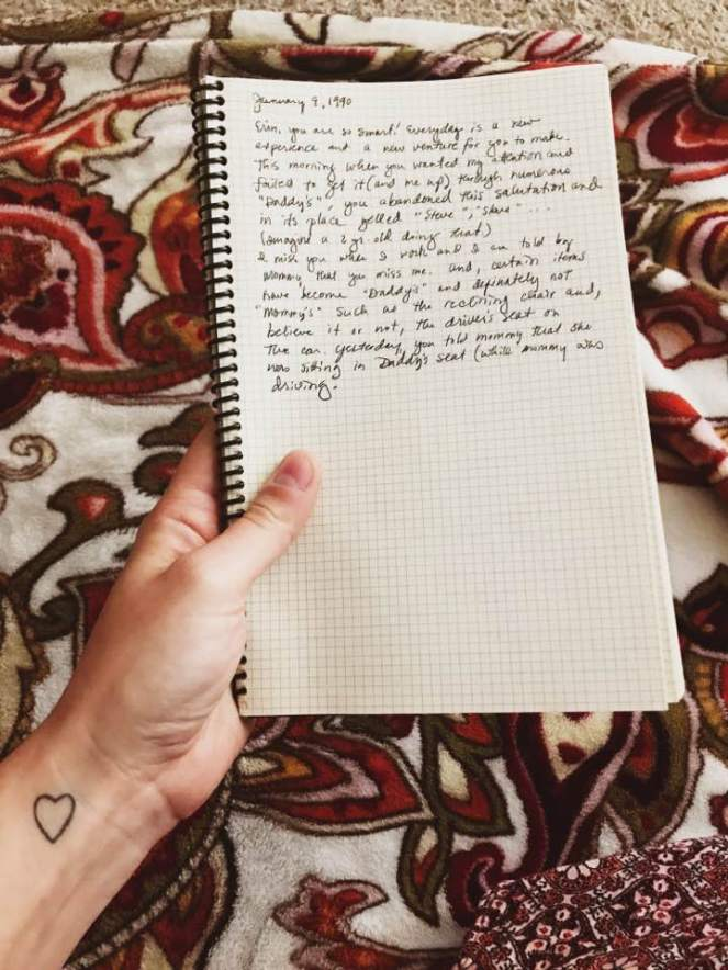 journal with blanket