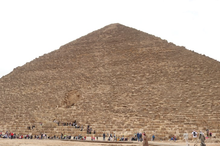 Egyptologists believe that Khafre's father, Pharaoh Khufu, built the Great Pyramid, the oldest and largest of the three pyramids in Giza