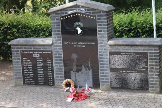 The current monument along the road.