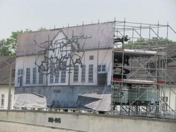 Repairing the Dachau memorial sculpture