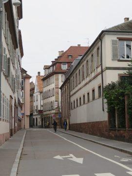 Almost empty street.