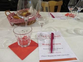 Our wine tasting menu!