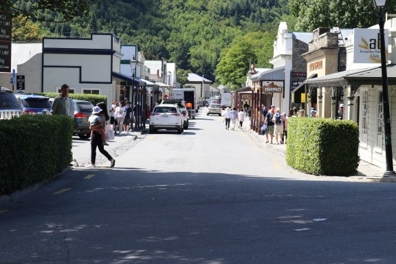 The main street of Arrowtown.