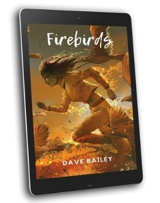 Firebirds Book Cover on Tablet