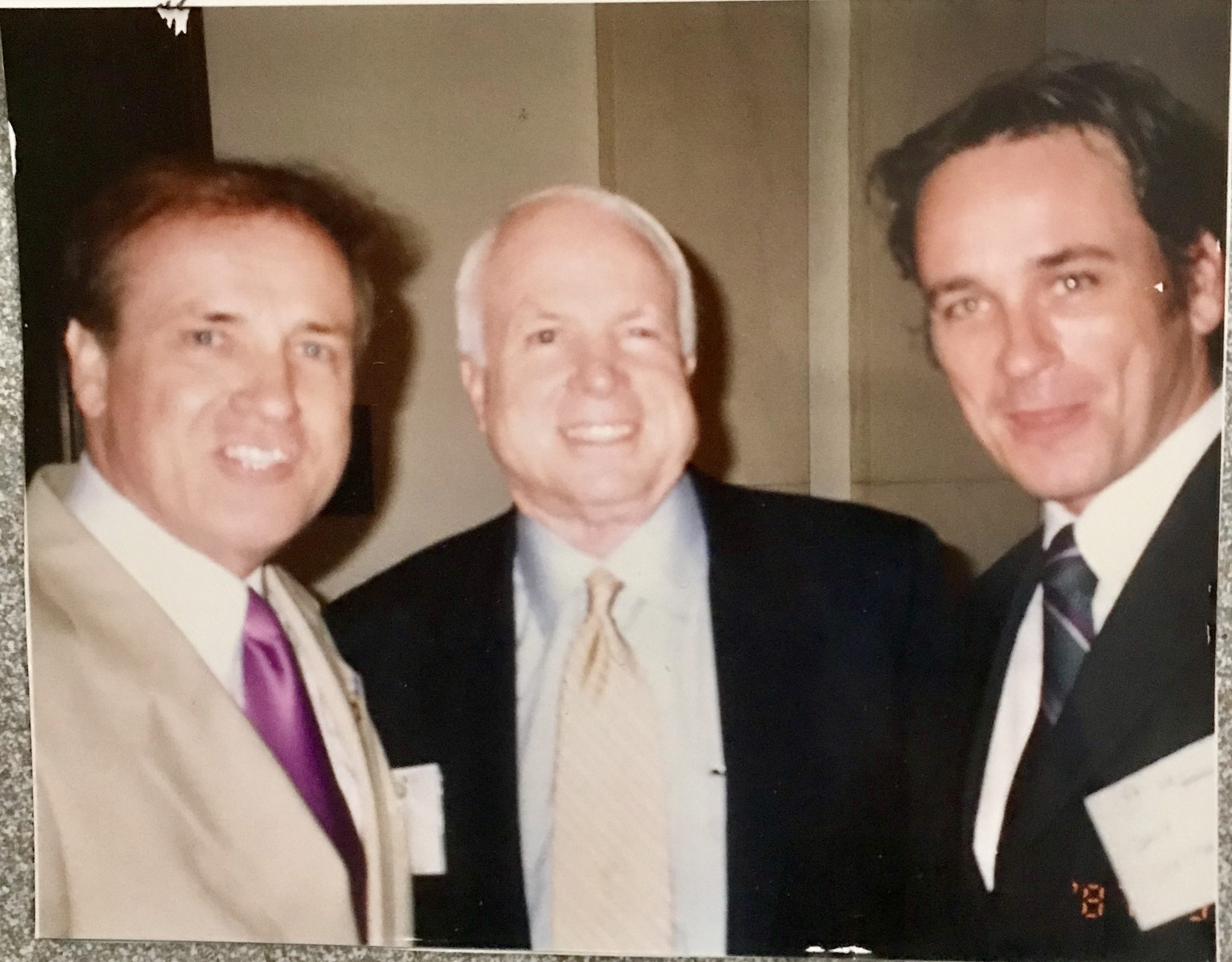 David Christian, John McCain and son David