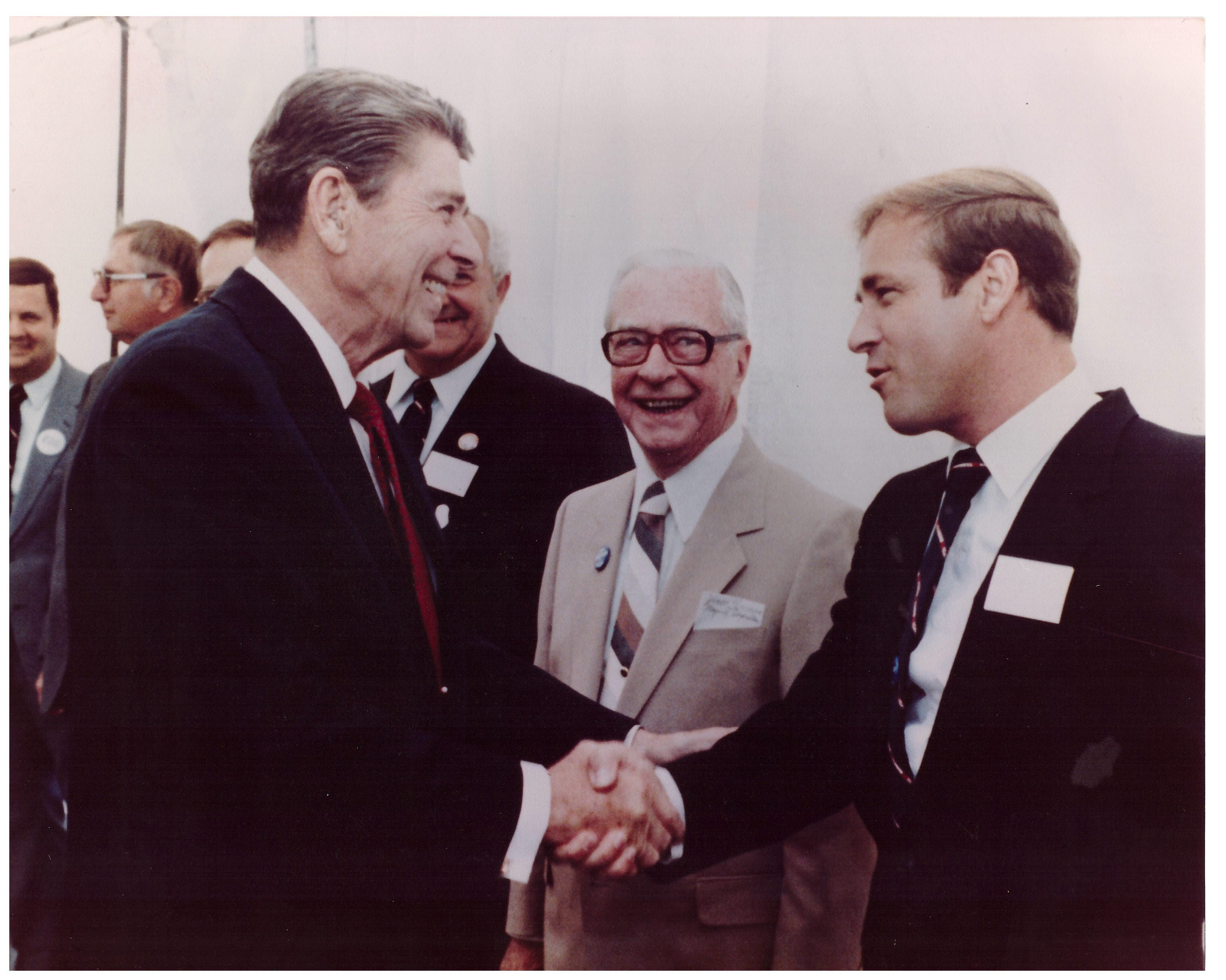 President Ronald Reagan and David Christian