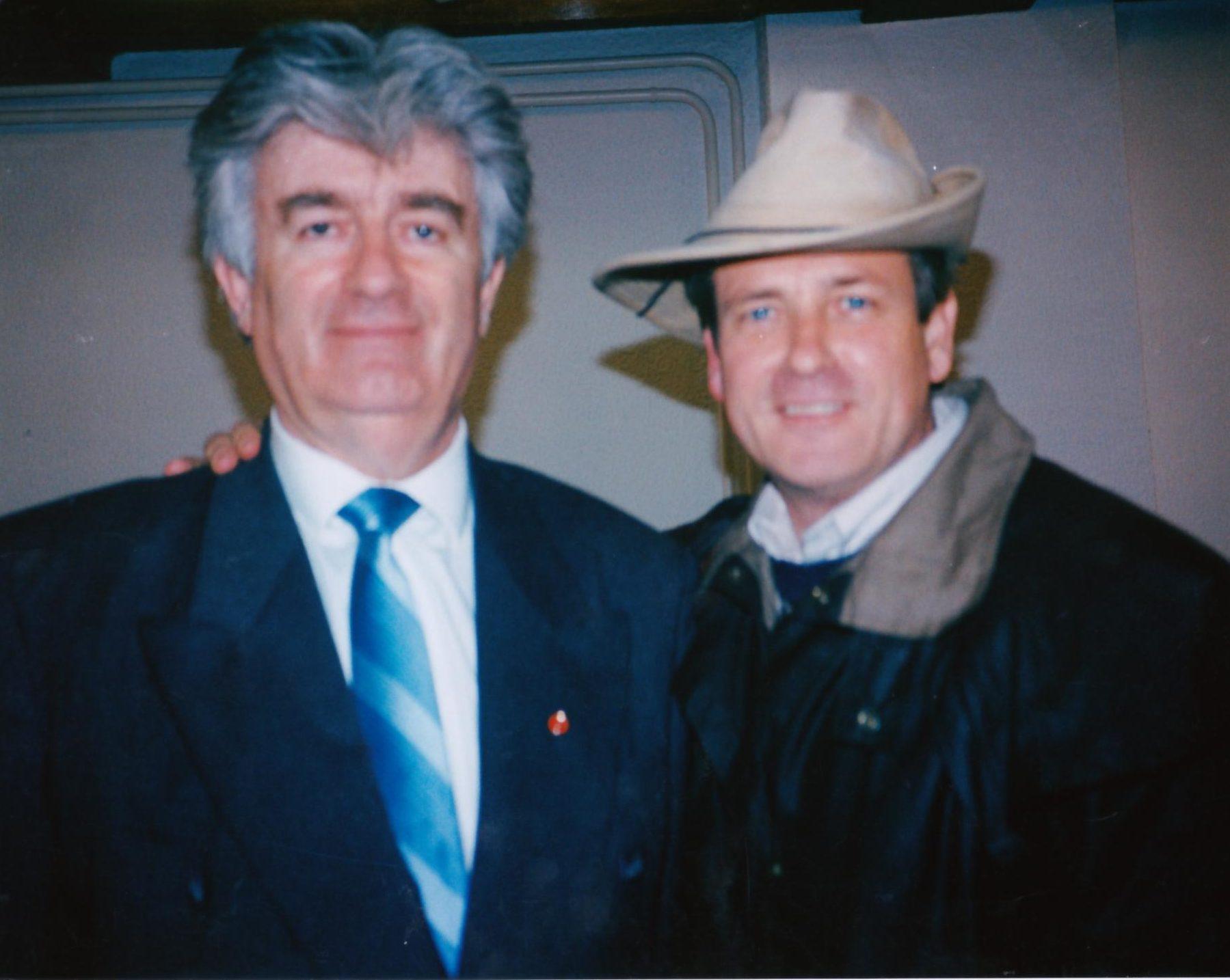 Radovan Karadžić -War criminal -with David