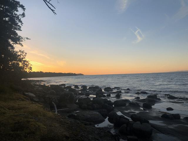 Sunset In Nanoose Bay