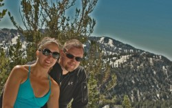 Merelyn and I on Mount Rose...