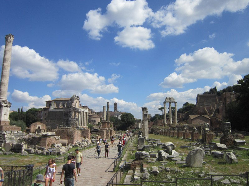 things to do in Rome - View of The Roman Forum