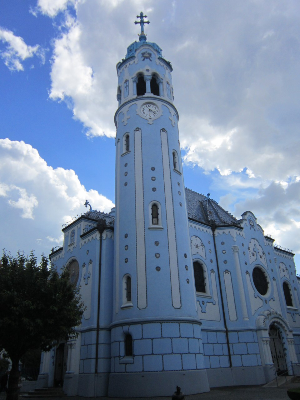 Shot of the The Blue Church in Bratislava