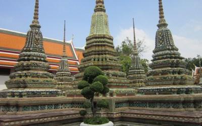Buddhist stupas at Wat Pho, Bangkok, Thailand