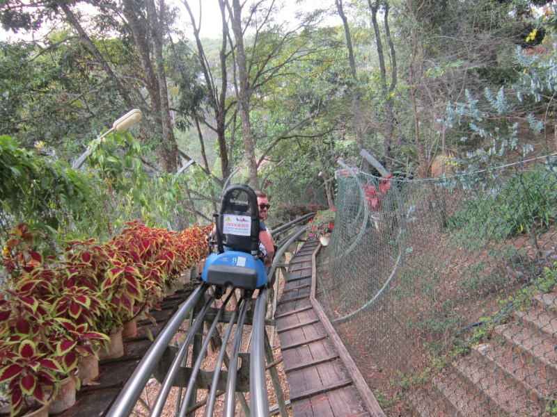 Going down a Rollercoaster near Da Lat, Vietnam