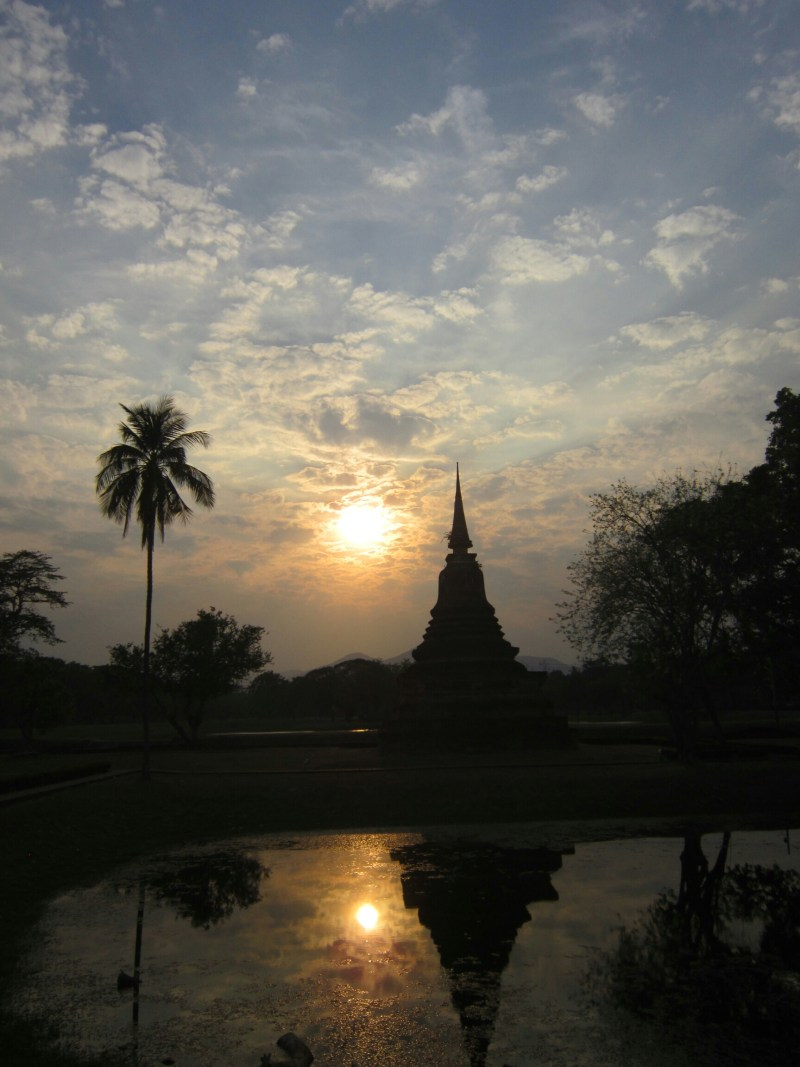 Sunset in Sukhothai Historical Park
