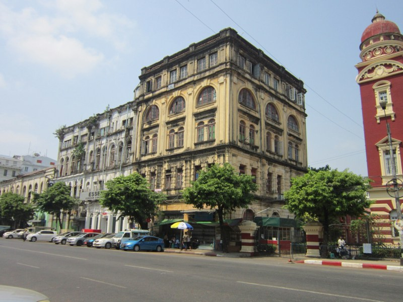 Old colonial buildings in Yangon, Myanmar