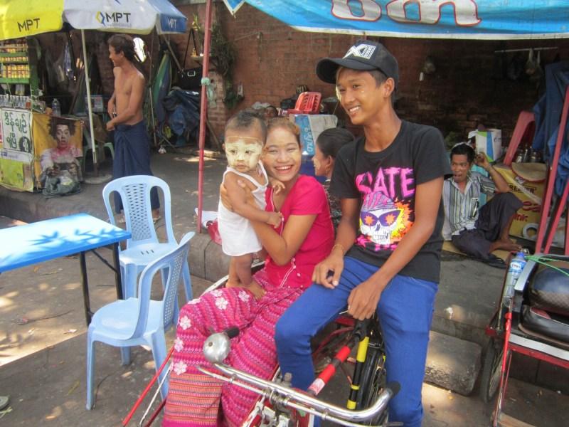 Street life in Downtown Yangon