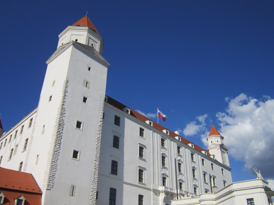 Close up of Bratislava Castle