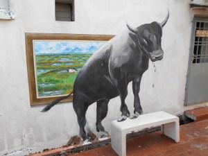 Melaka Street Art Bull