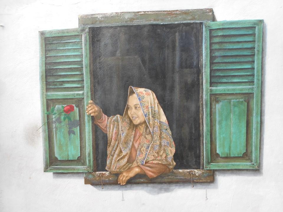 Melaka Street Art Woman