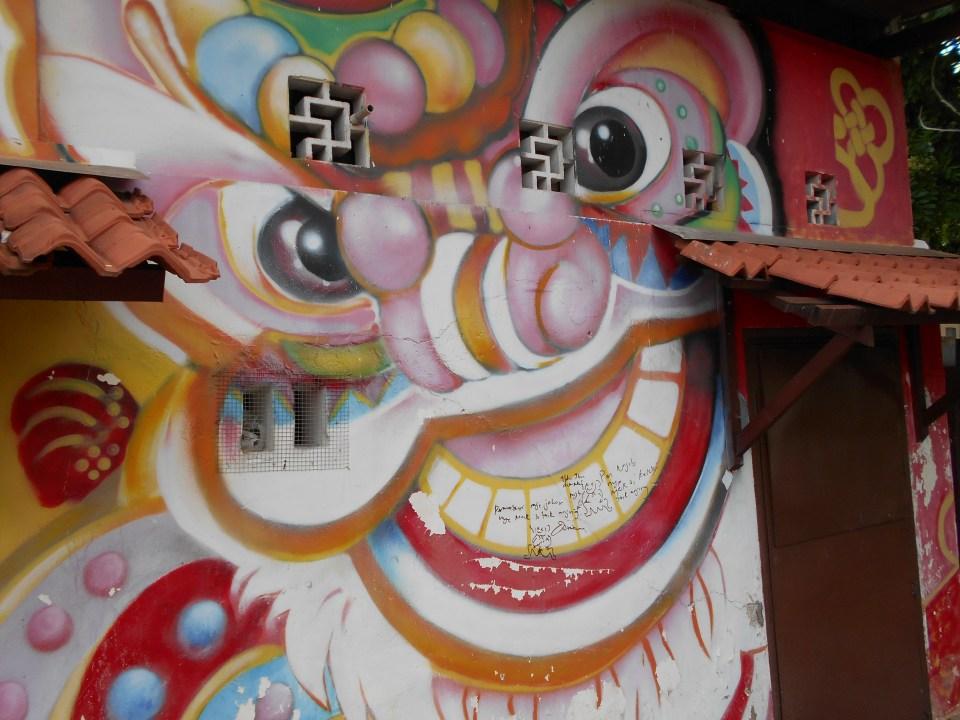 Melaka Street Art Clown Face