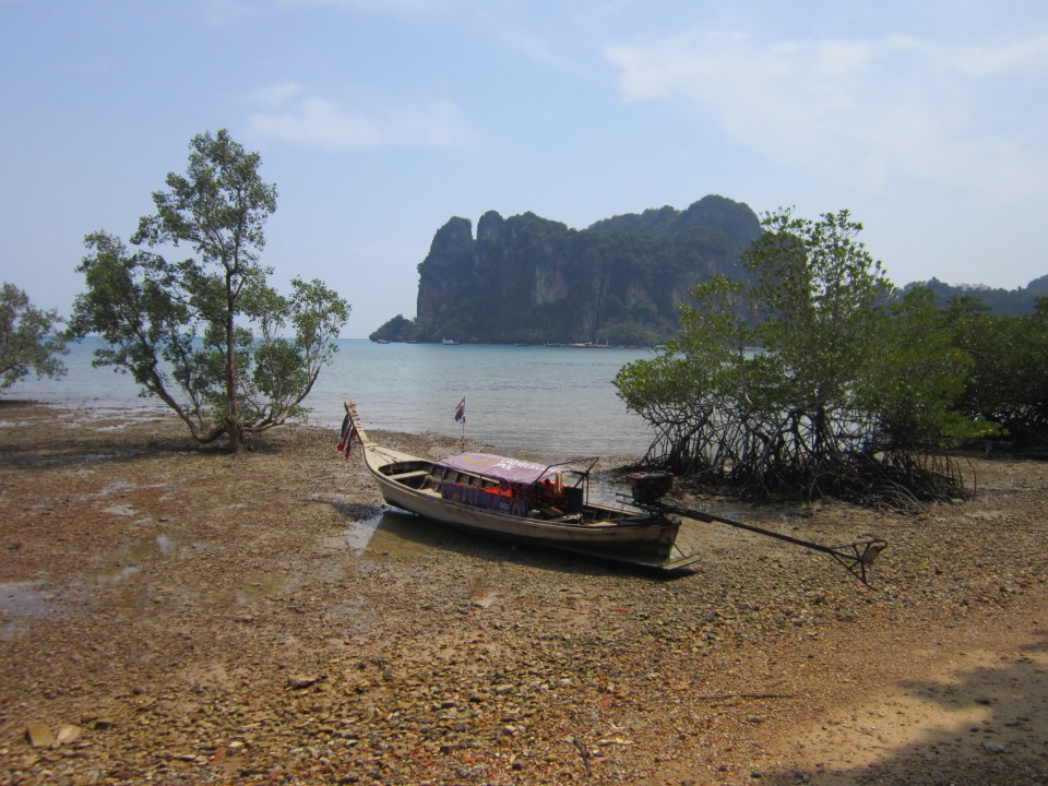 Tide out on Railay East, Thailand