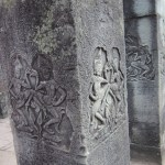 Carvings on a pillar in Bayon, Temples Of Angkor
