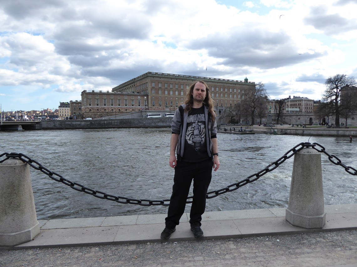 Stockholm Posing in front of the Royal Palace across the water