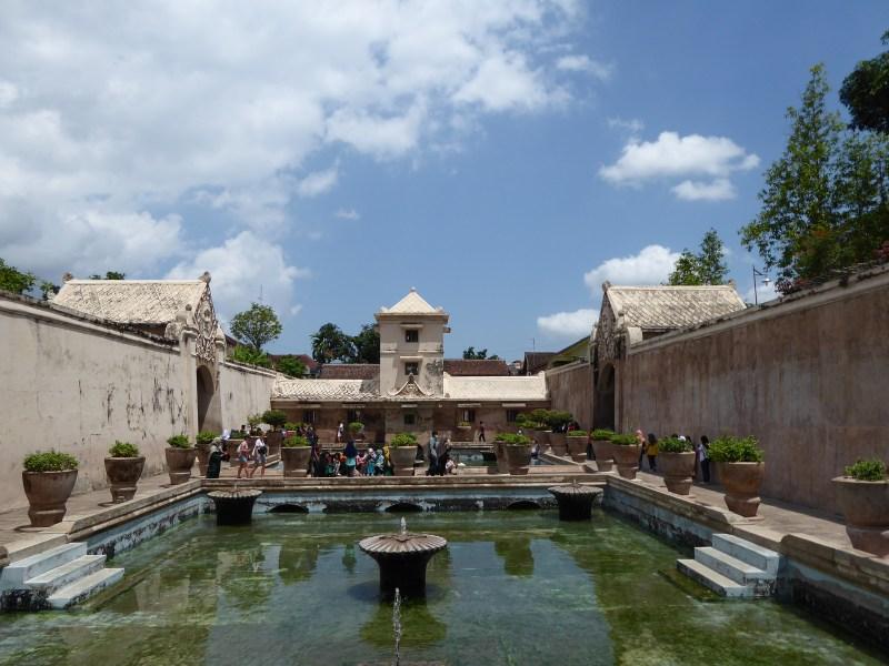 Yogyakarta Travel Guide - inside view of pools in Taman Sari