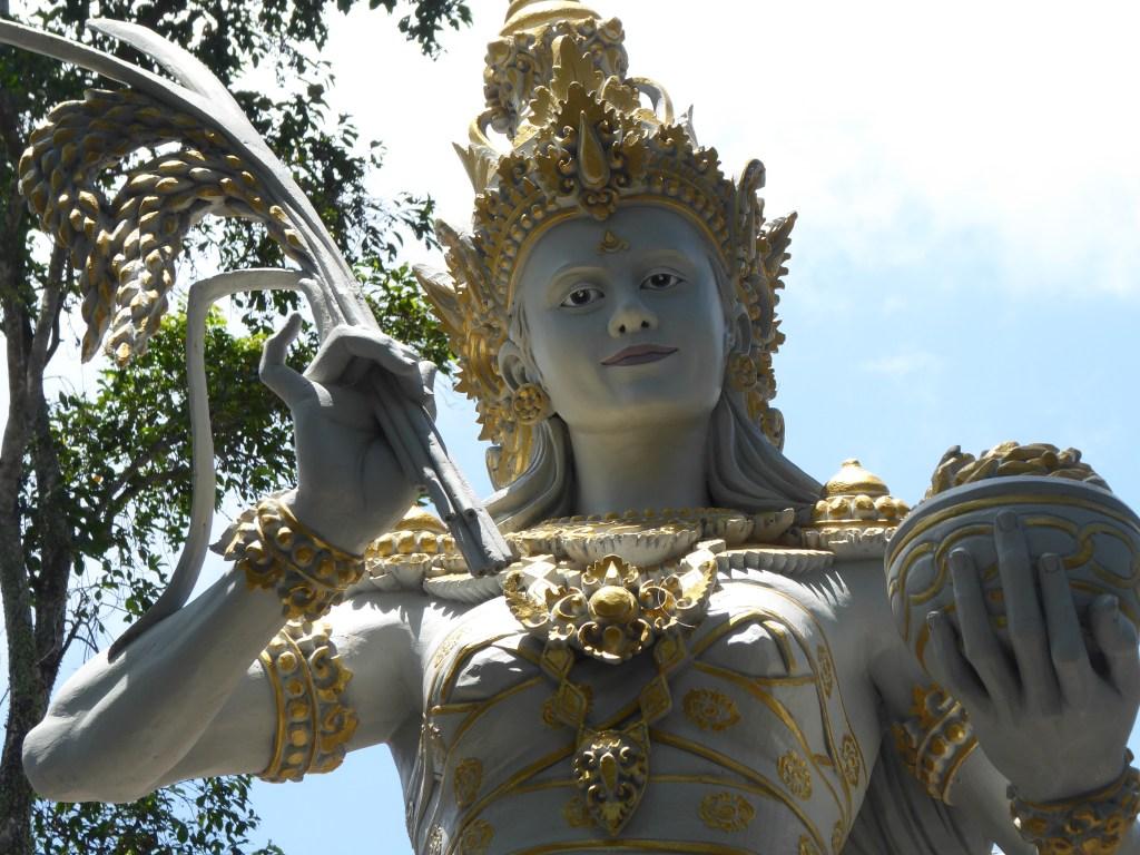 A Hindu statue in Taman Ayun