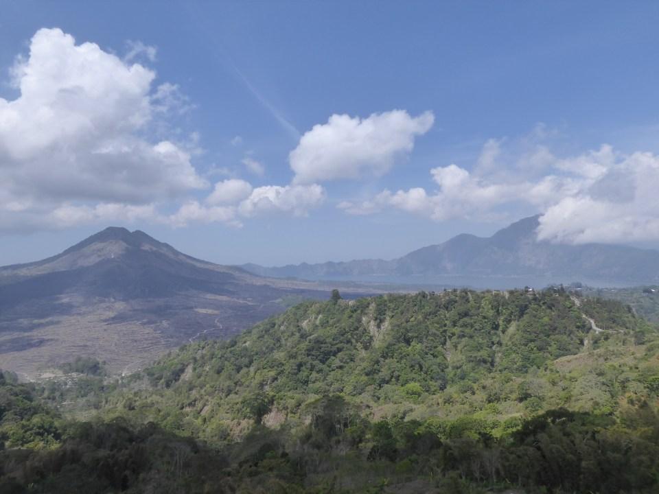 View of Mount Batur and Lake Batur (backpacking Ubud)