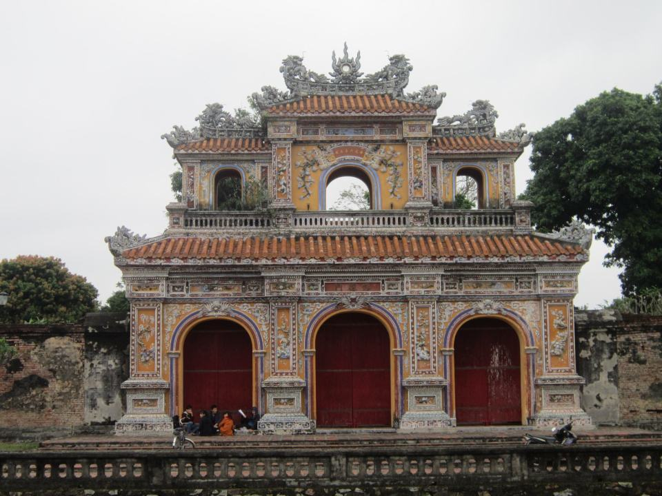 One of the historic gates of the Imperial City citadel