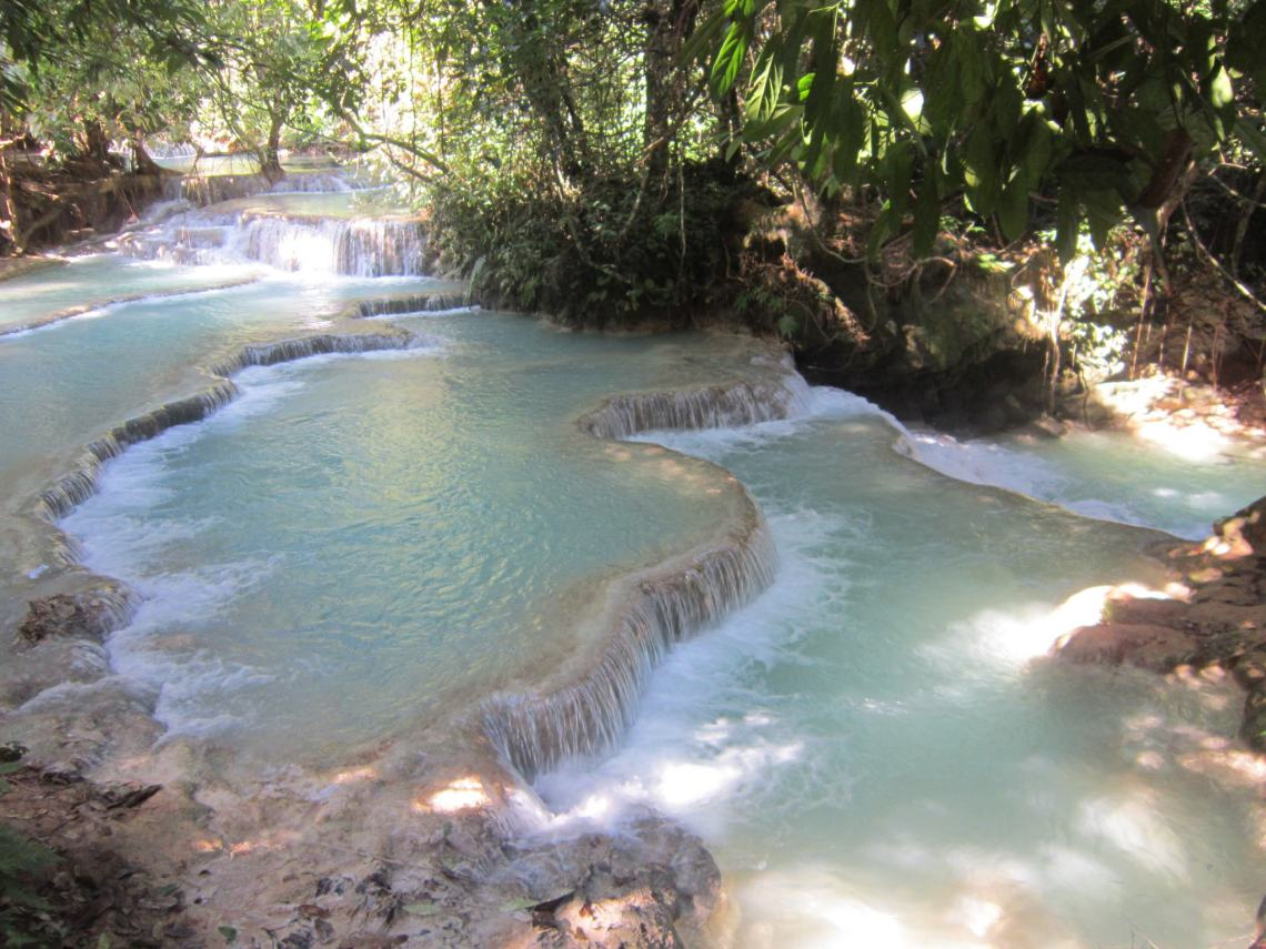 Laos Itinerary Feature Pic - Kuang Si Falls