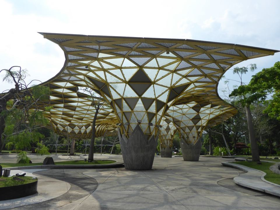 One of the structures in the Perdana Botanical Gardens  - Kuala Lumpur Travel Guide