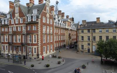 Photo of Building's in York taken form an elevated position on the York City walls