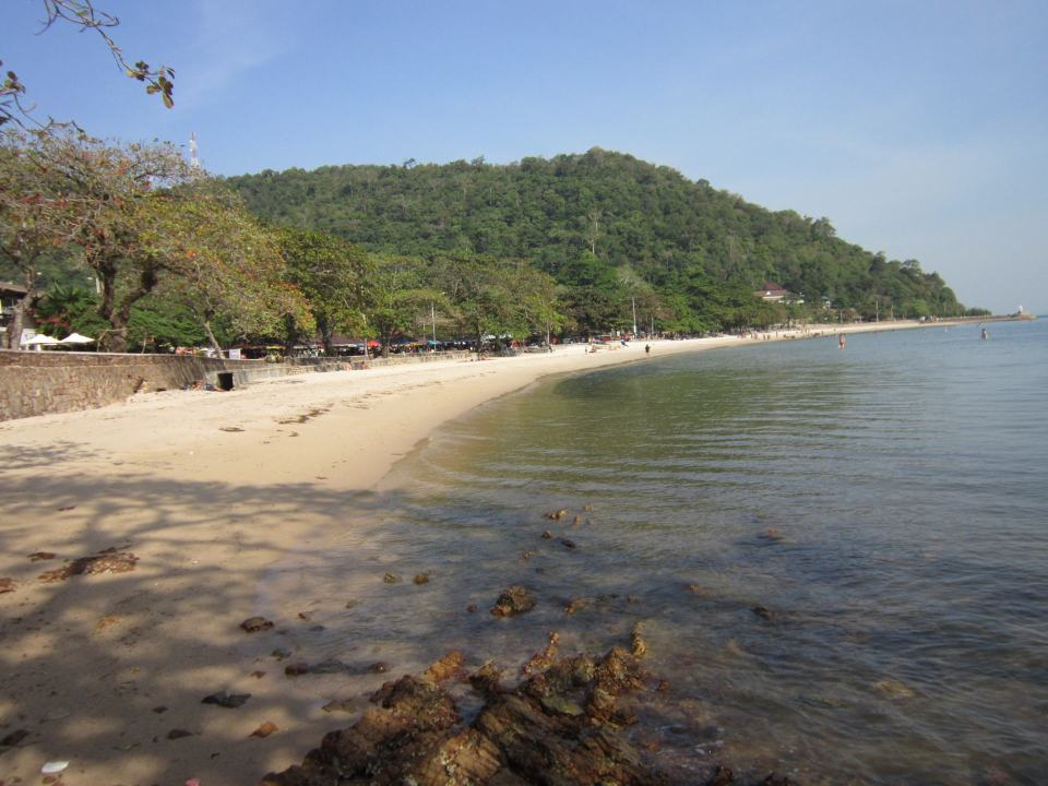 Kep Beach with Kep National Park in the bachground