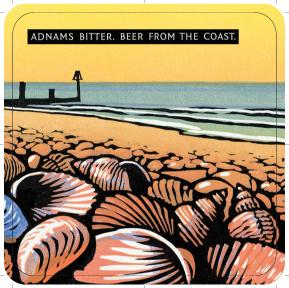Adnams 'Shells' Beer mats back 2
