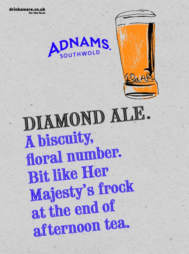 Adnams, Diamond Ale Poster %22Biscuity%22-01