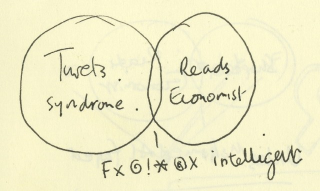 'Tourettes Rough' The Economist Venn Scribbles, Dave Dye, AMV/BBDO