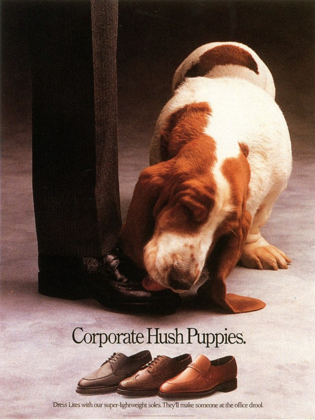 Fallon McElligott, Hush Puppies, 'Corporate'-01