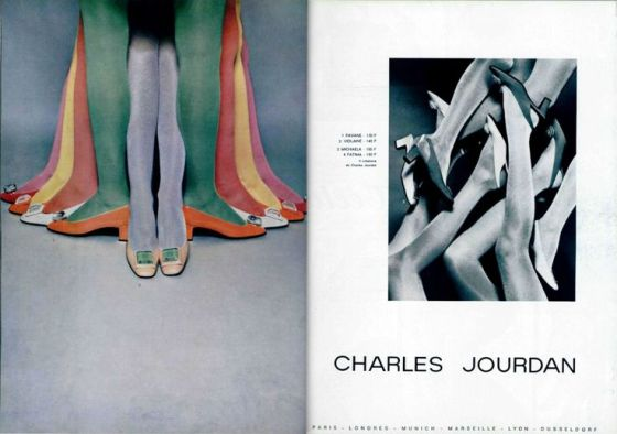 'Multi-Coloured Leg Tree' Charles Jourdan, Guy Bourdain, 1967