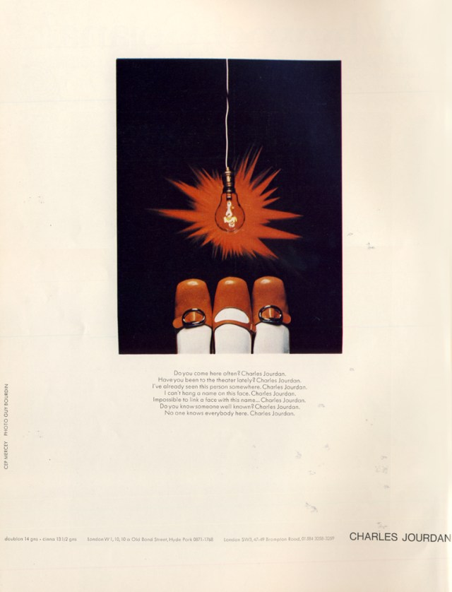 'Lightbulb' Charles Jourdan, Guy Bourdain, 1967