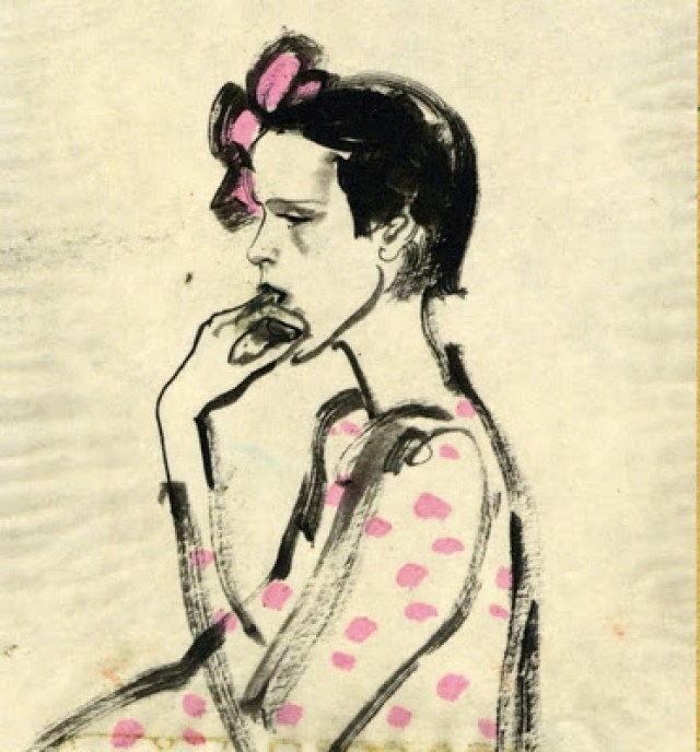 indian ink on tracing paper 1969