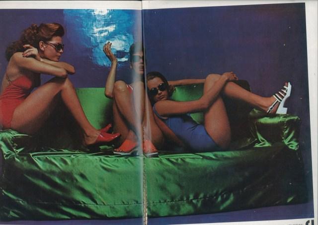'Green Satin Sofa' Charles Jourdan, Guy Bourdain