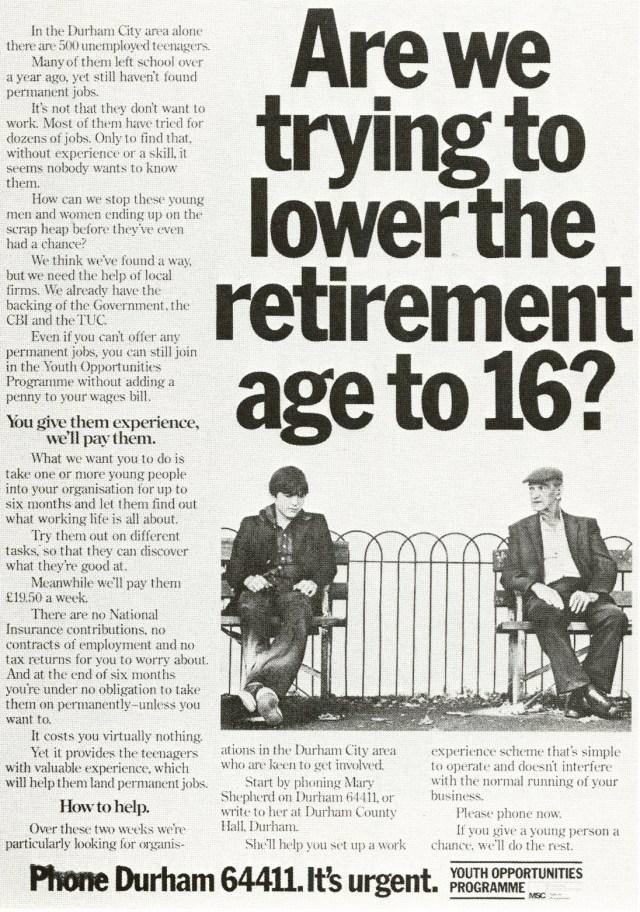 Jeff Stark, Youth Opportunities 'Retirement Age', Saatchi's-01