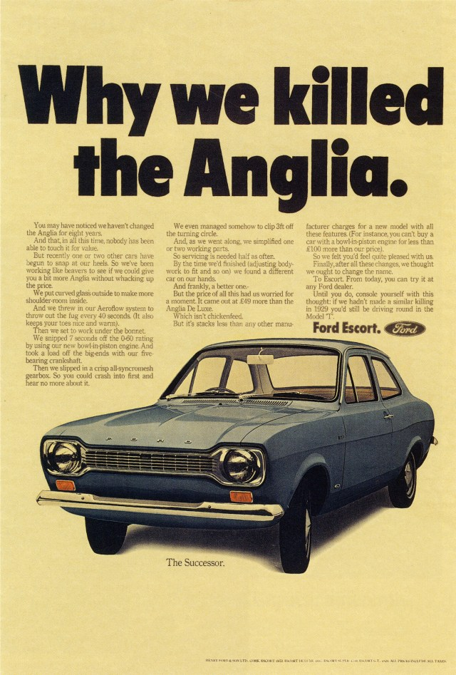 Max Forsythe, Ford -'Why We Killed The Anglia', CDP-01